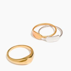 Madewell Signet Ring Set NWT - Size 7 *READ*